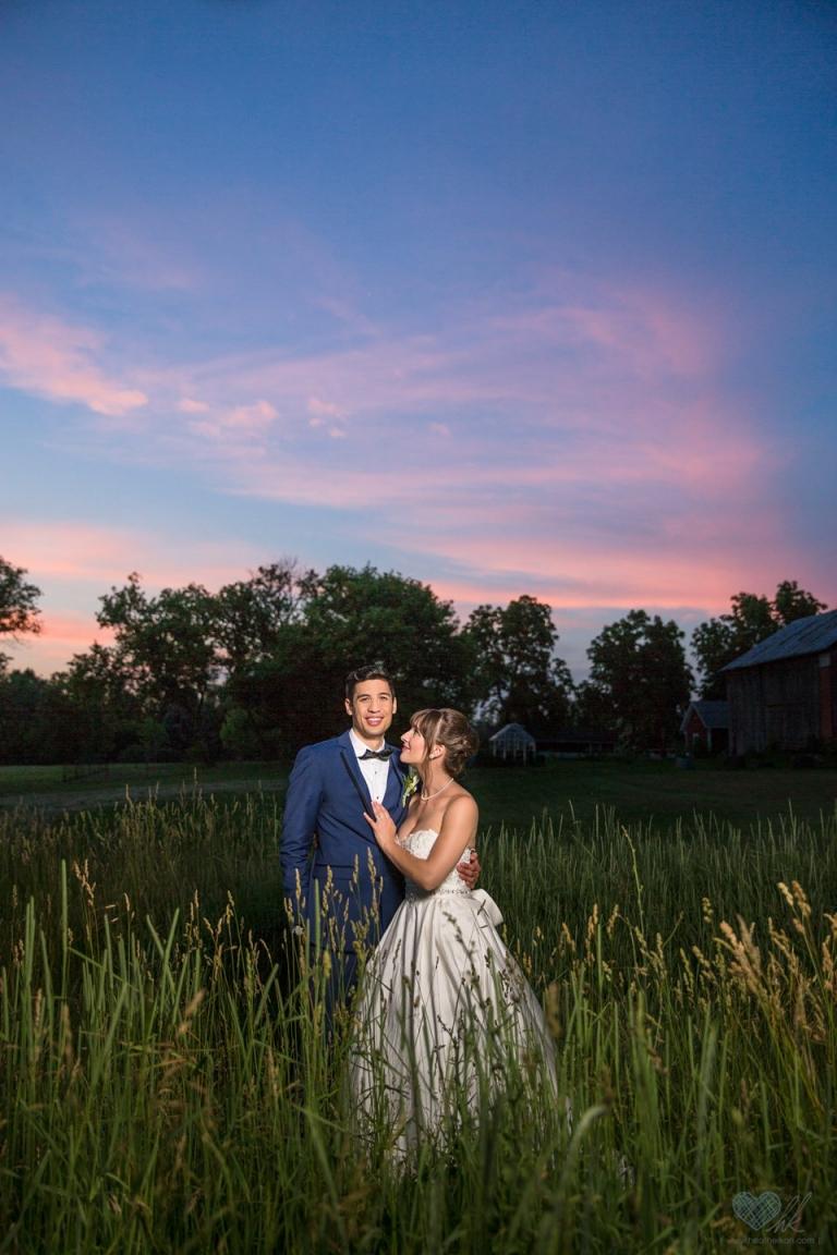 Wheatfield Inn Michigan wedding sunset photographs