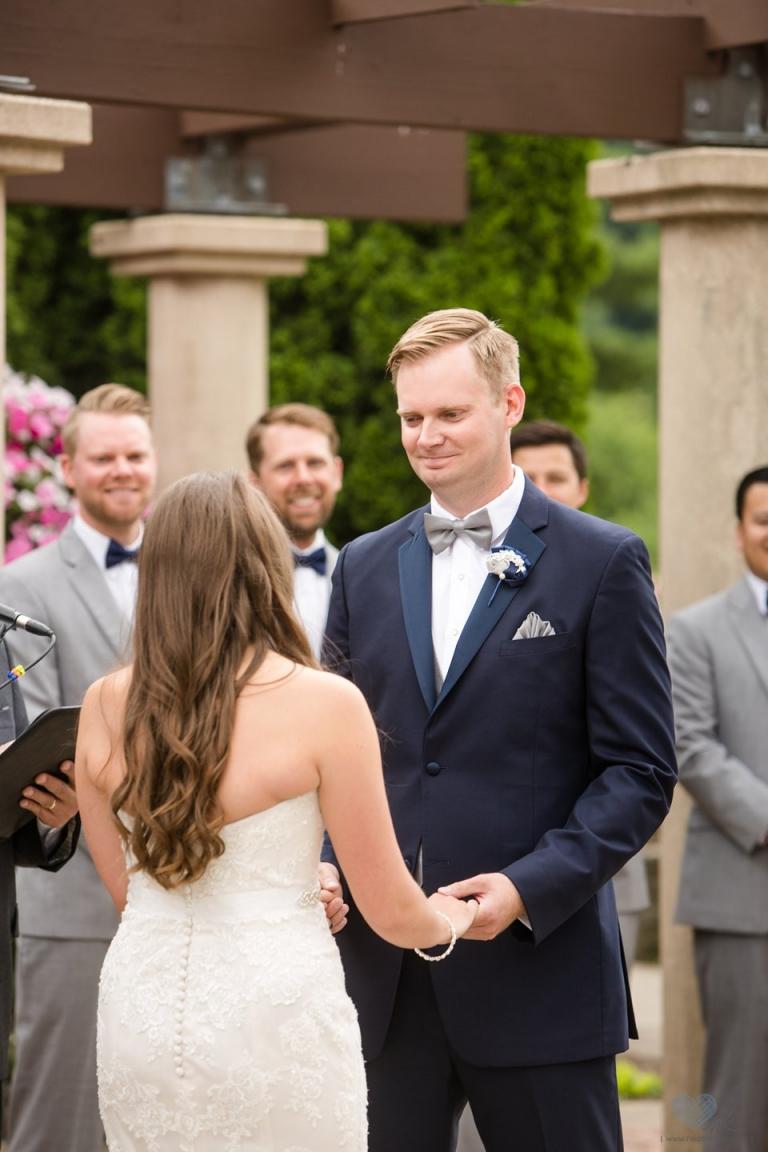 MSU South Horticulture Gardens wedding ceremony