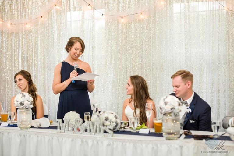 Hawk Hollow wedding reception photos