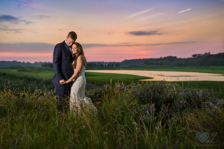Hawk Hollow sunset wedding photographs