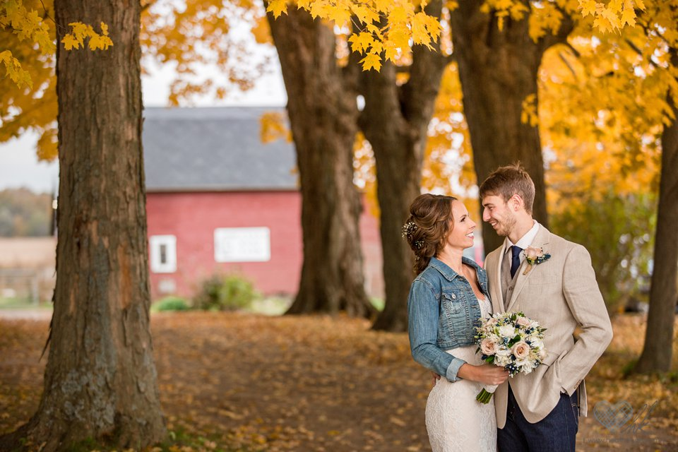 Cherry Barc Farm wedding photos fall