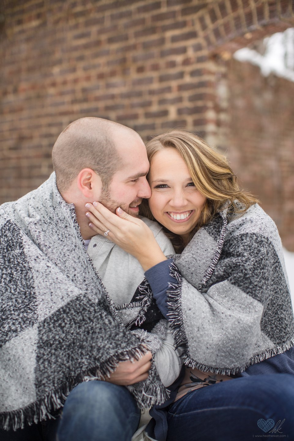 winter engagement photos Grand Ledge MI