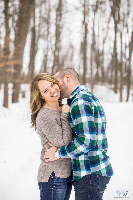 winter engagement photos Grand Ledge MI