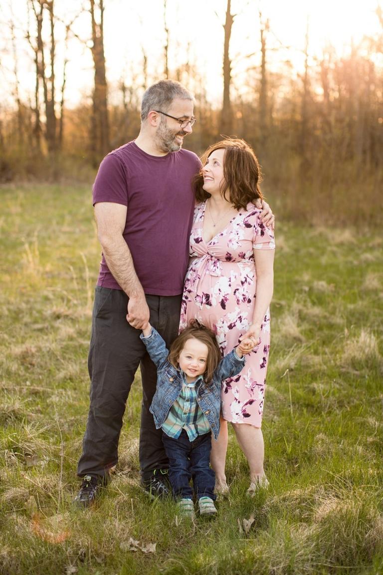 Maternity family session in Grand Ledge Michigan, Lincoln Brick Park