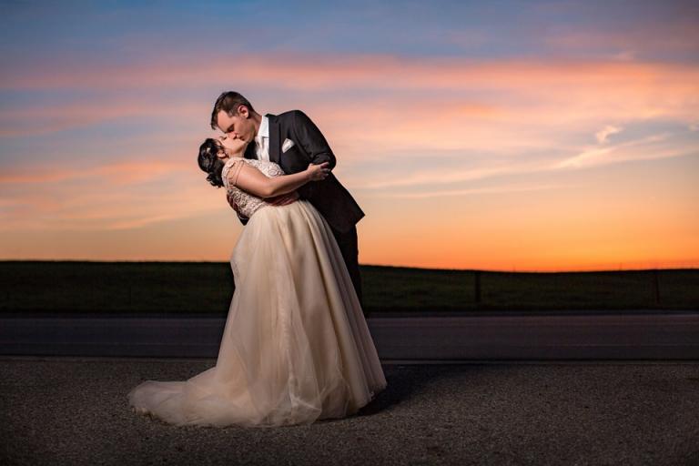 Okemos Michigan sunset wedding photographs