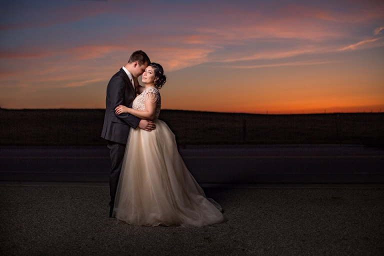 Okemos Michigan sunset wedding photographs