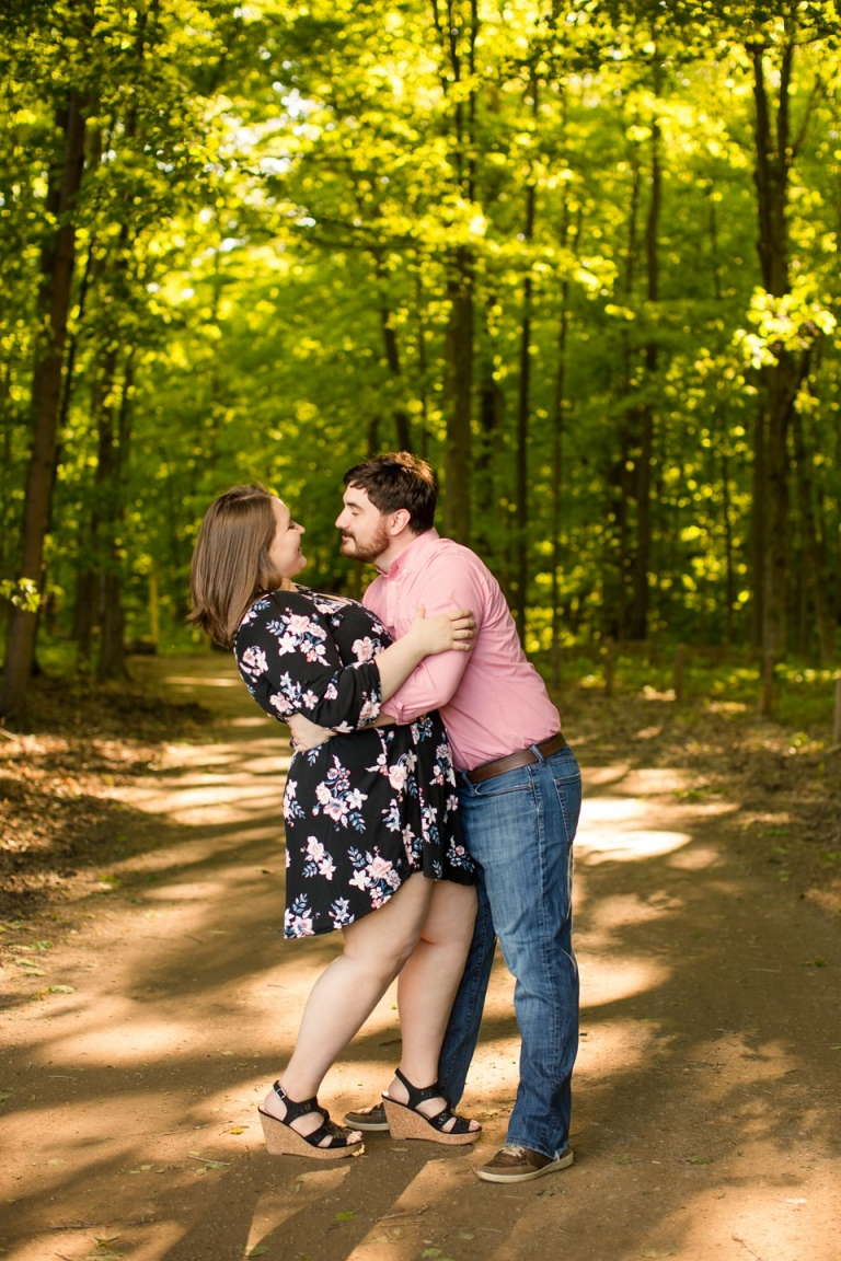 Engagement photographs at Lincoln Brick Park, Grand Ledge, Michigan