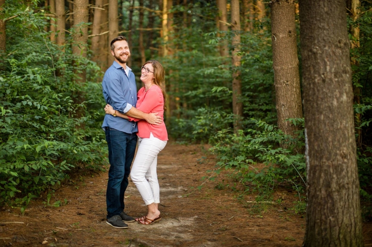 Woldumar Nature Center engagement photographs