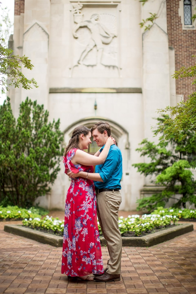 Proposal photographer at Beaumont Tower on MSU's campus, Michigan State University