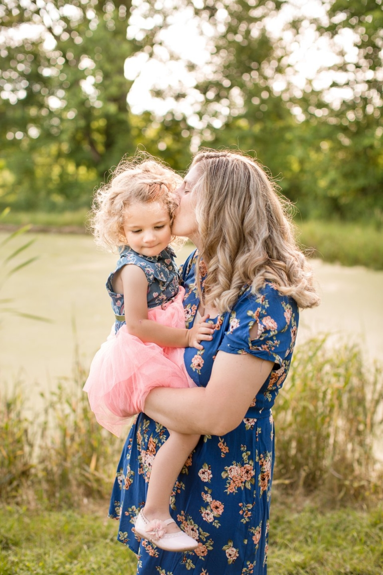 Mother and daughter family photographs in Portland Michigan