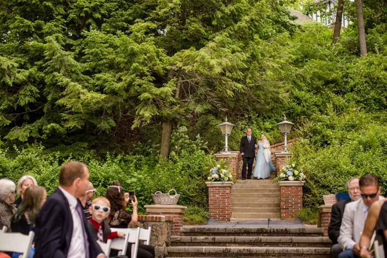 Outdoor spring wedding at the Kellogg Manor House