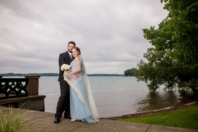 Wedding photographs on the lake at the Kellogg Manor House