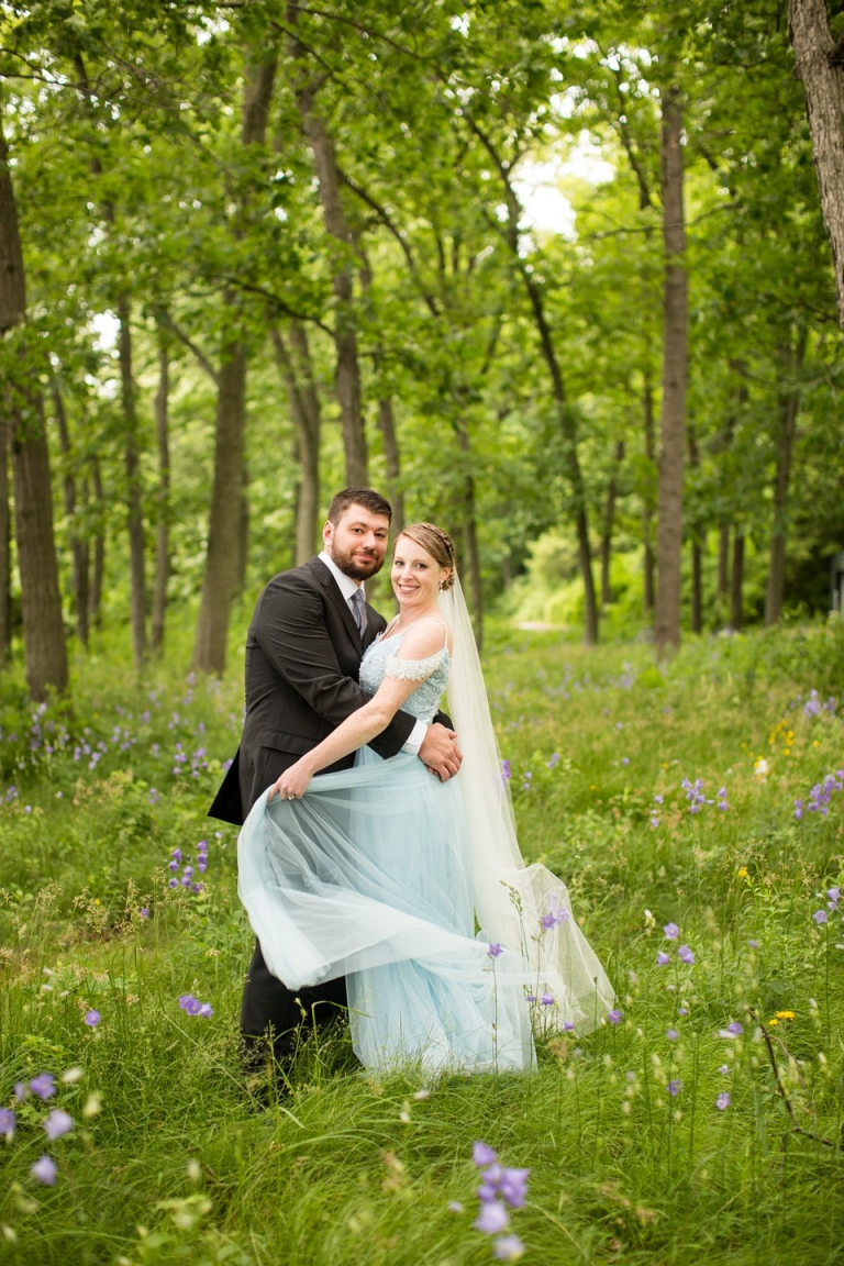 Wedding photographs in the forest at the Kellogg Manor House