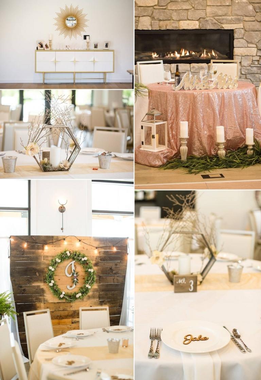 Bay Pointe Woods in Shelbyville, Michigan wedding reception decor