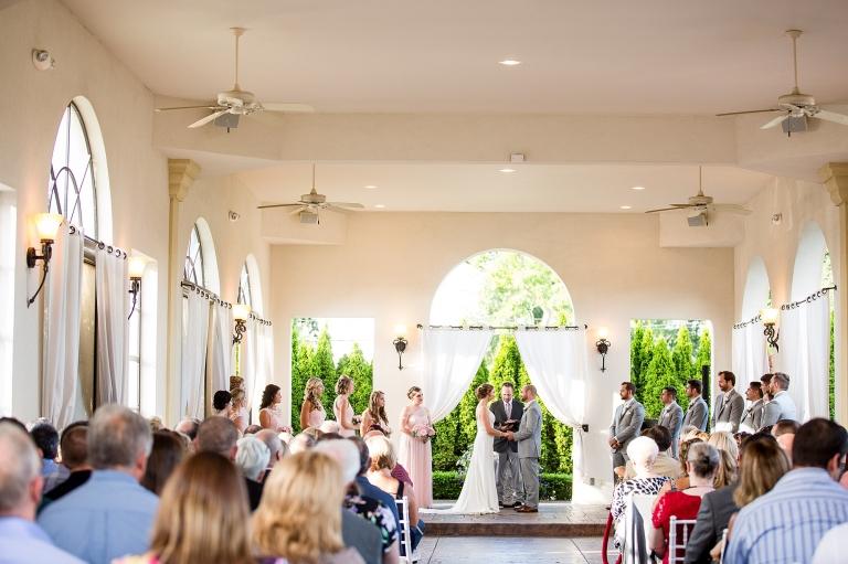 Crystal Gardens Banquet Center outdoor wedding ceremony in pavilion