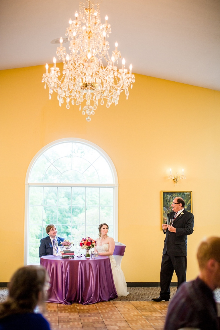 Wedding photographs in the banquet hall at the English Inn, Eaton Rapids
