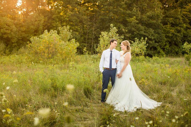 Wedding photographs at Lincoln Brick Park, Grand Ledge Michigan