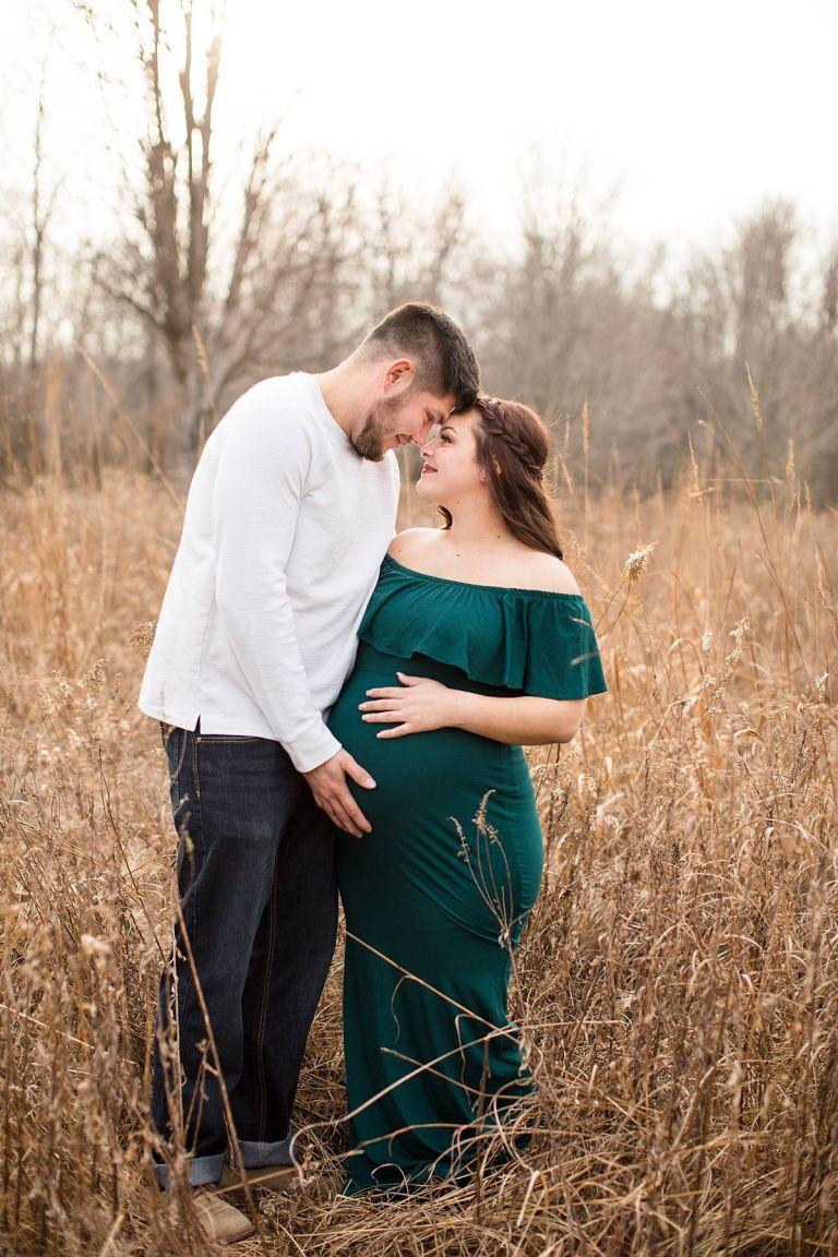 Maternity session at the Lincoln Brick Park in Grand Ledge, Michigan